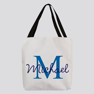 Personalize Initials and Name Polyester Tote Bag