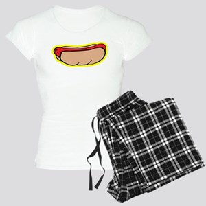 Cool retro hot dog Women's Light Pajamas