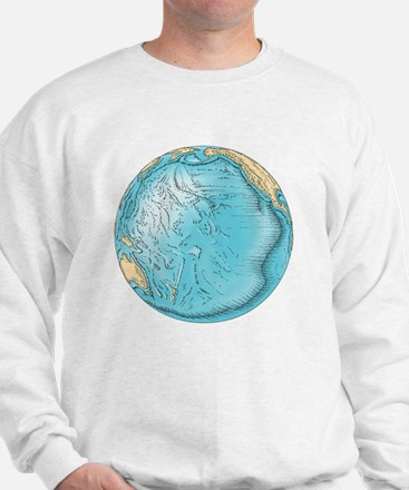 Pacific Ocean sea floor topography - Sweatshirt