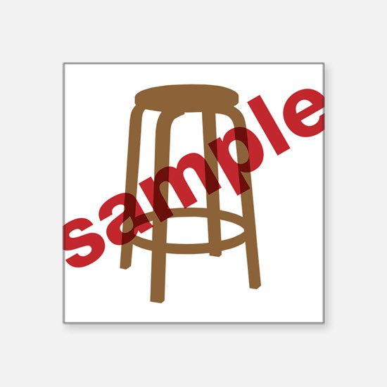 "Stool Sample Square Sticker 3"" x 3"""