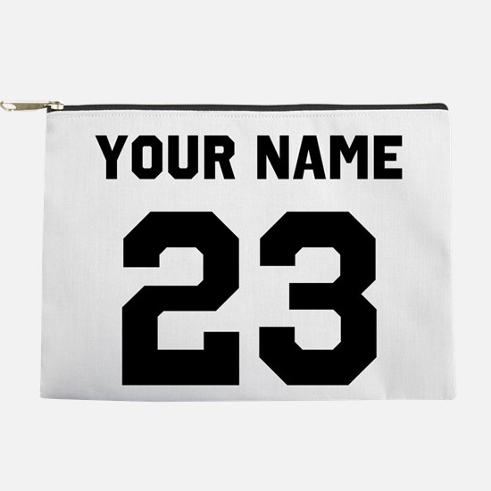 Custom Sports Jersey Number. Makeup Pouch