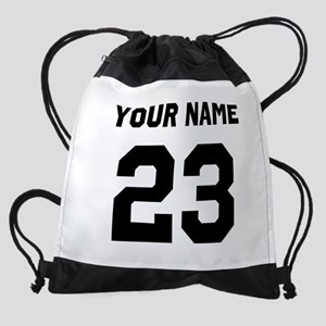 Custom Sports Jersey Number. Drawstring Bag