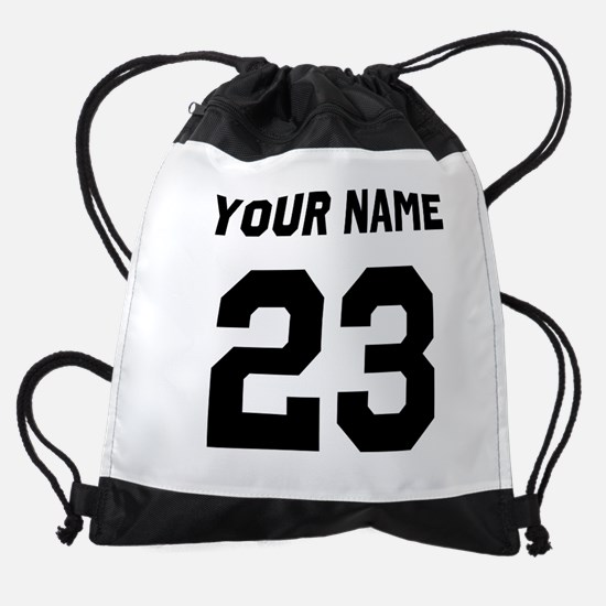 Custom Sports Jersey Number. Drawstring Bag