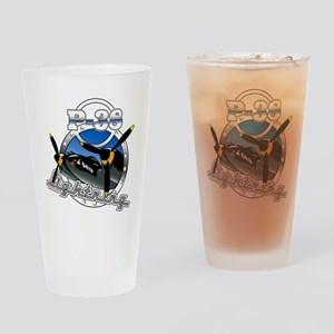 P38 Lightning Drinking Glass