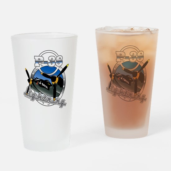 P38 Lightning.png Drinking Glass