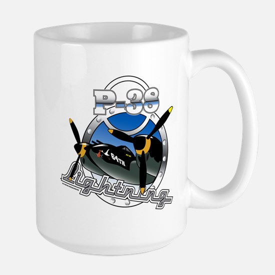 P38 Lightning.png Large Mug