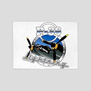 P38 Lightning 5'x7'Area Rug