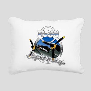 P38 Lightning Rectangular Canvas Pillow
