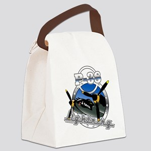 P38 Lightning Canvas Lunch Bag