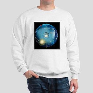 Earth's rotation, artwork - Sweatshirt