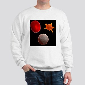 Blood cells, artwork - Sweatshirt
