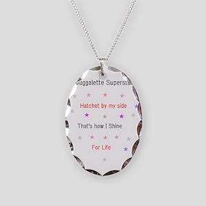 Juggalette Superstar Necklace Oval Charm
