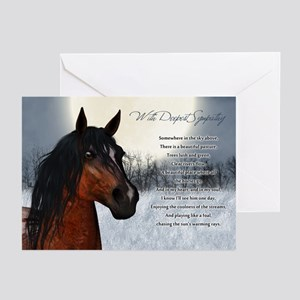 Pet Horse Sympathy Card, Loss Of Horse (Pk of 10)