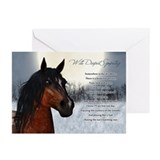 Sympathy horse Greeting Cards (10 Pack)