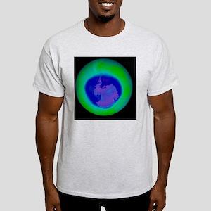 Antarctic ozone hole maximum, 2008 - Light T-Shirt