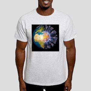 Global flu pandemic, artwork - Light T-Shirt
