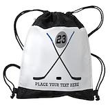 Ice hockey Drawstring Bag