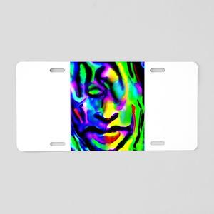 Meditating Hippy Aluminum License Plate