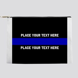 Thin blue line customized Makeup Pouch