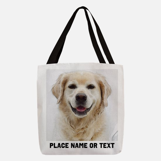 Customize Pet Photo Text Polyester Tote Bag