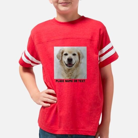 Customize Pet Photo Text Youth Football Shirt