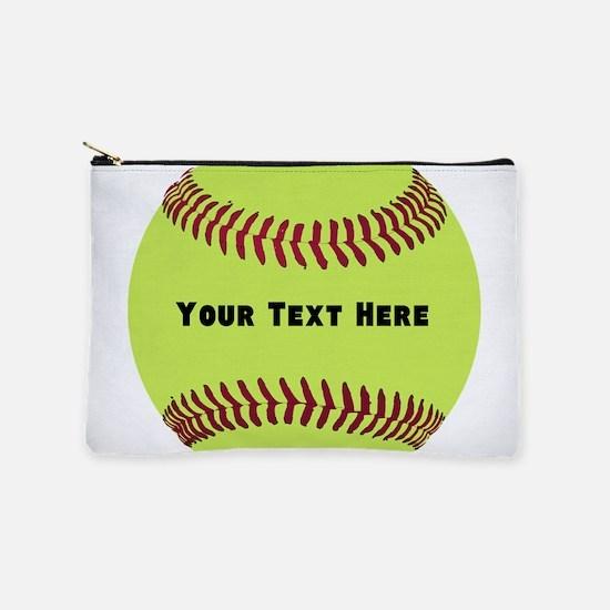 Customize Softball Name Makeup Pouch