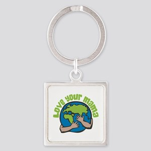 Love Your Mama Square Keychain