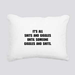 Shits And Giggles Rectangular Canvas Pillow