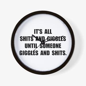 Shits And Giggles Wall Clock