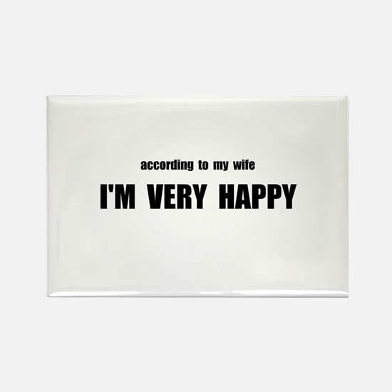 Wife Happy Rectangle Magnet (10 pack)