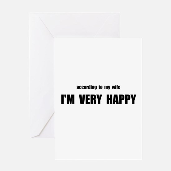 Wife Happy Greeting Card