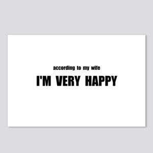 Wife Happy Postcards (Package of 8)