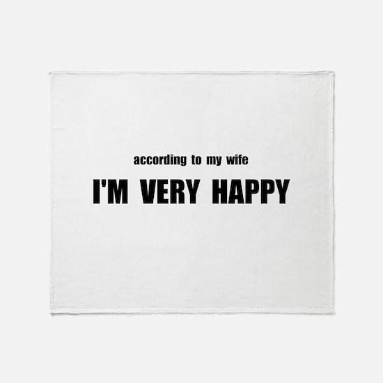 Wife Happy Throw Blanket