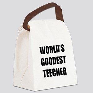 Worlds Goodest Teacher Canvas Lunch Bag