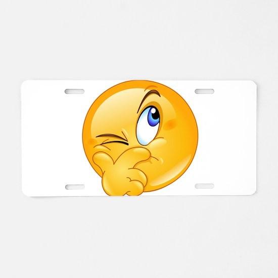 Thinking Emoji Aluminum License Plate