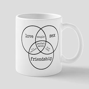 Sex Love Friendship Venn Diagram Mug