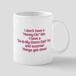 Do it my damn self list Mug