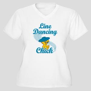 Line Dancing Chick #3 Women's Plus Size V-Neck T-S