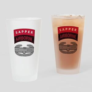 CAB w Sapper - Abn Tab Drinking Glass
