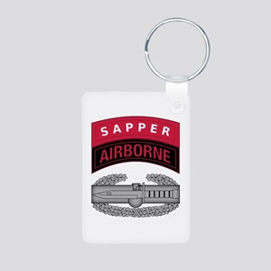 CAB w Sapper - Abn Tab Aluminum Photo Keychain