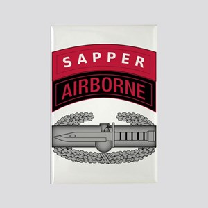 CAB w Sapper - Abn Tab Rectangle Magnet