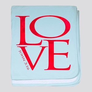 Love - John 3:16 baby blanket