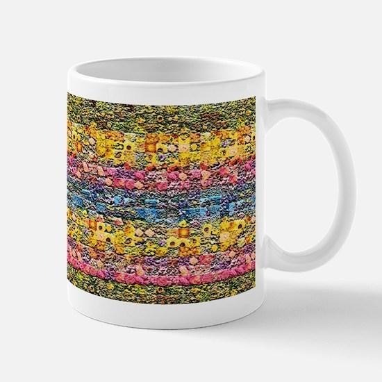 Spring Flower Patchwork Quilt Mug