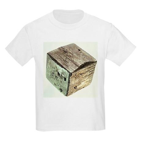 Iron pyrite crystal - Kids Light T-Shirt
