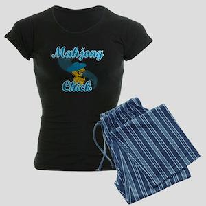 Mahjong Chick #3 Women's Dark Pajamas