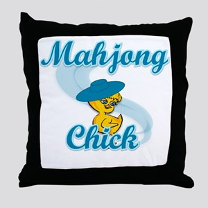 Mahjong Chick #3 Throw Pillow