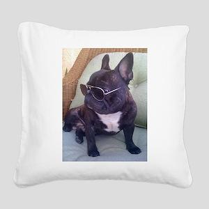 Authority Square Canvas Pillow