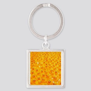 Rubber Duckies Square Keychain