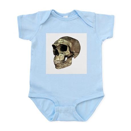 Homo erectus skull - Infant Bodysuit