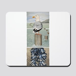 Seagull and Mussels Mousepad